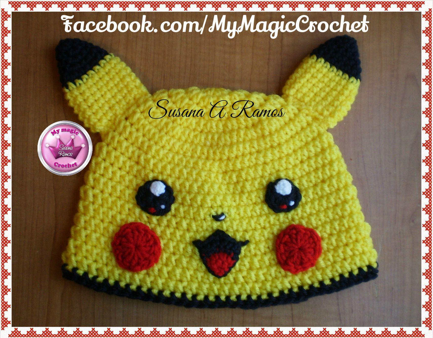 Pikachu Crochet Hat, https://www.etsy.com/your/shops ...