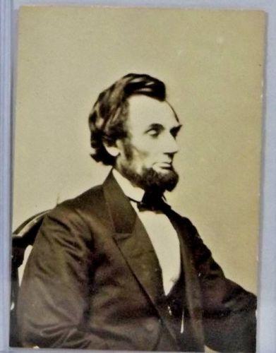 Original Carte De Visite Portrait Of President Abraham Lincoln By Gardner 1861