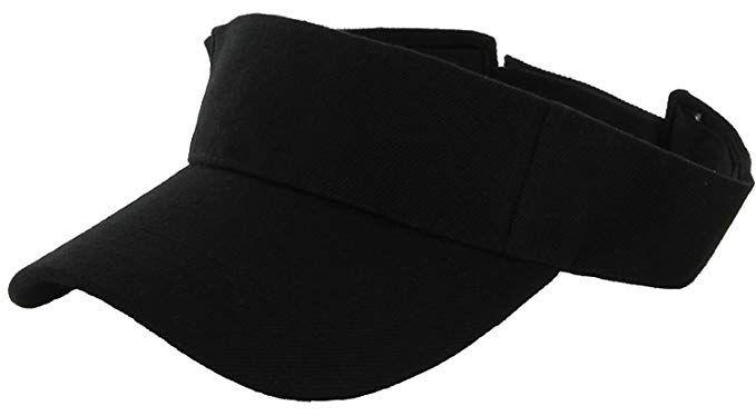cb6b424e4bfd78 LA Gen Sales Plain Men Women Sport Outdoor Sun Visor Adjustable Cap (Black)
