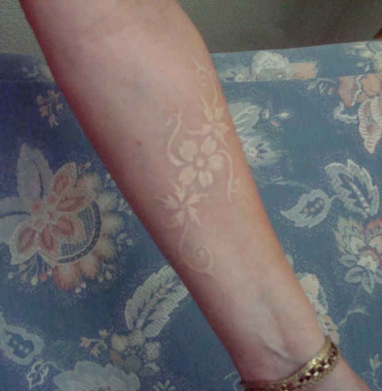 Light Colored Tattoos | Best Skin Color Tattoo Design ...