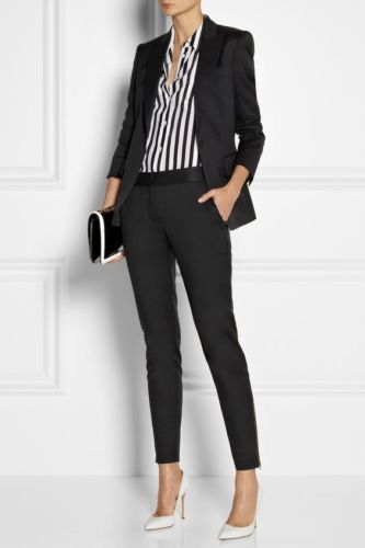 Office pants Lapel Jacket Black Peak Business Ladies Suits Women 8nRRWaq