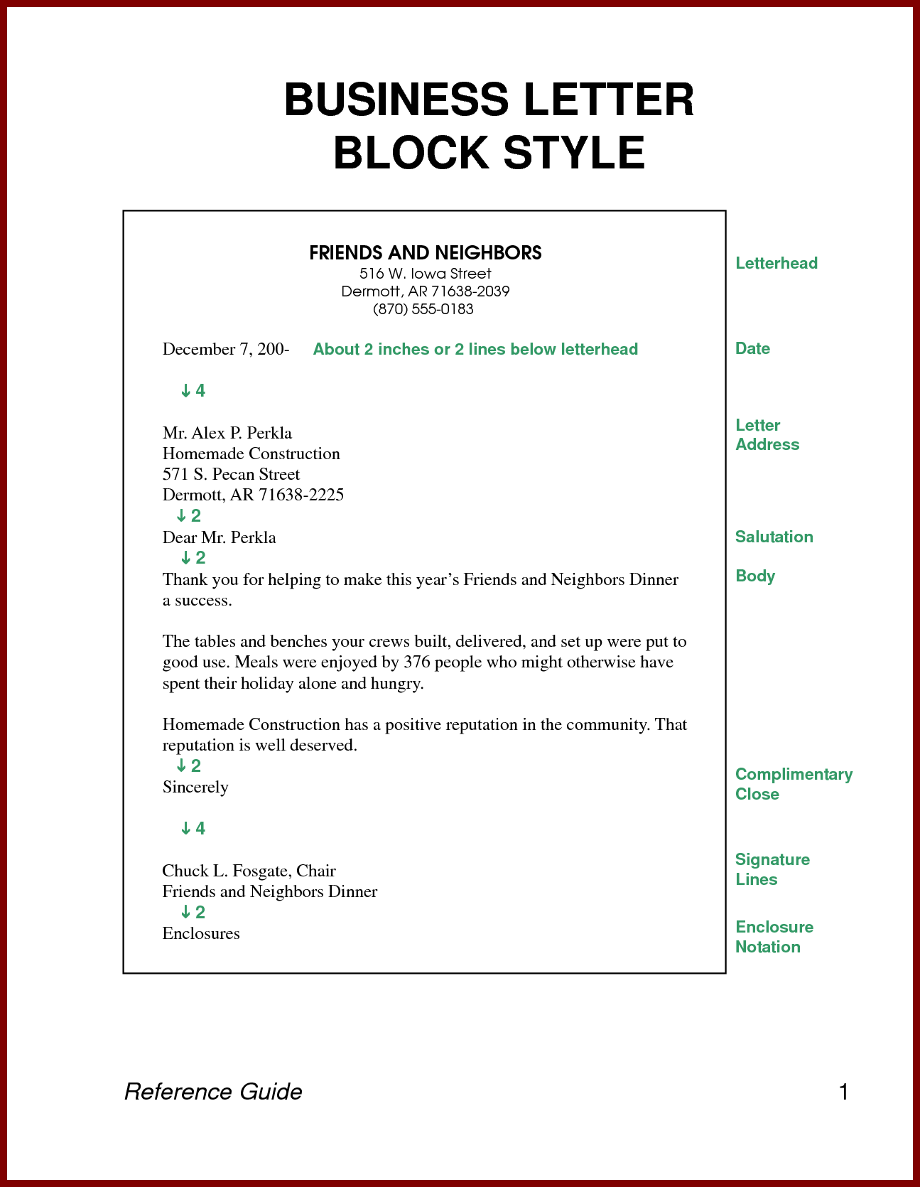 classic letter format