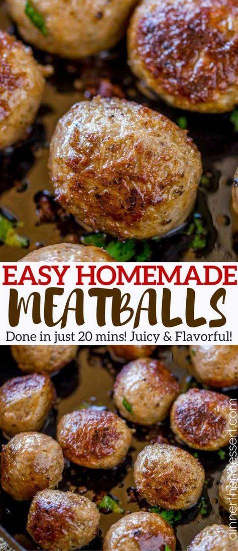 Photo of Homemade Beef Meatball Recipe (Freezer Friendly) – Dinner, then Dessert