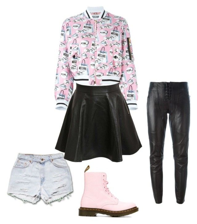 """""""So sweet yet so pink"""" by lillynovak ❤ liked on Polyvore featuring Moschino, Dr. Martens, Barbara Bui and Pilot"""