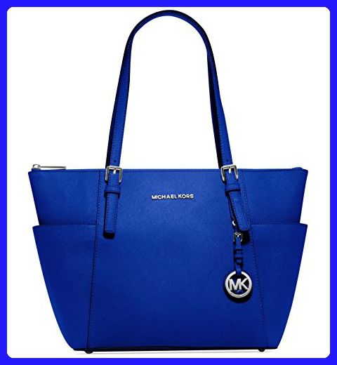 e1688e2defe51 MICHAEL Michael Kors Jet Set Large Top-Zip Leather Tote in Electric ...