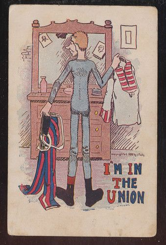 MAN IN THE UNION SOCIAL HISTORY LABOR MOVEMENT ANTIQUE POSTCARD 1906-bb141