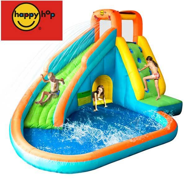 For the kids next summer happy hop water slide with pool for Happy hop inflatable water slide