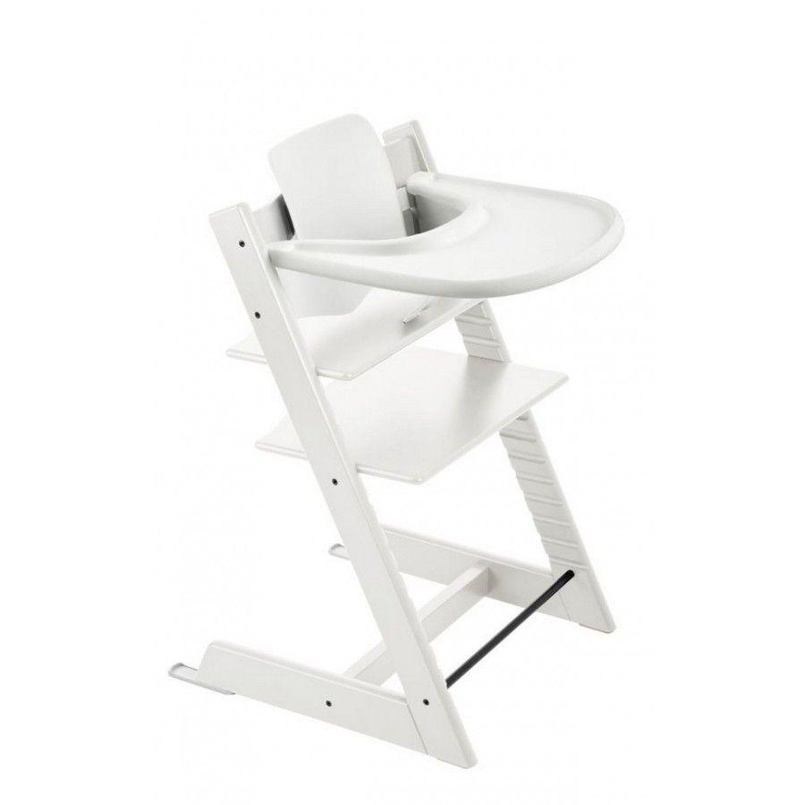 Tablette Pour Chaise Tripp Trapp Stokke Blanche Chaise Haute Chaise Haute Evolutive Chaise Haute Bebe