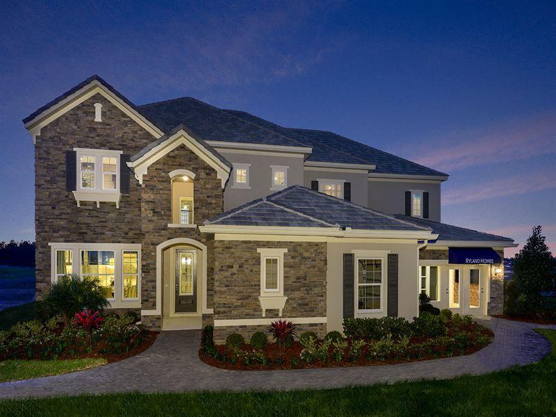 Hickory Hammock 90 U0027e Homesites Por Ryland Homes Em Orlando Florida