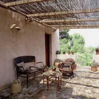 Terraza r stica y sencilla terrazas y exteriores pinterest for Terrazas rusticas fotos