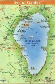 ISRAEL Lake Gennesaret and Sea of Galilee MAP Google