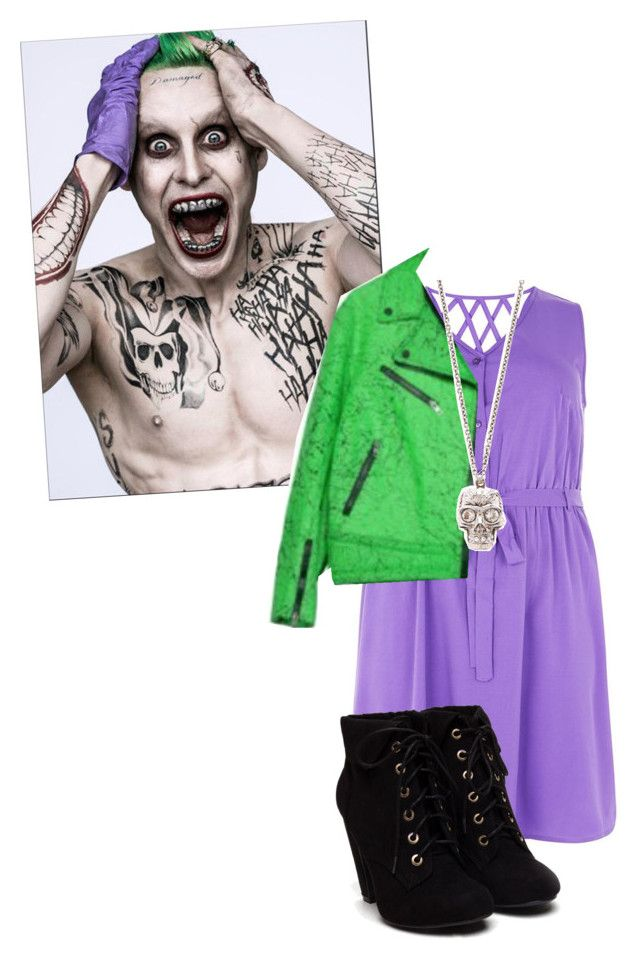 """Joker inspired fashion"" by misscreepyashell ❤ liked on Polyvore featuring Alexander McQueen"