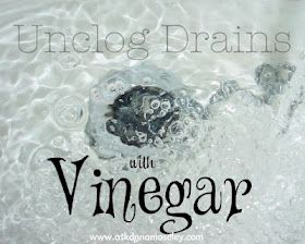 Use Vinger to clean shower , unclog drain, water spots and more #bathroom, #cleaning