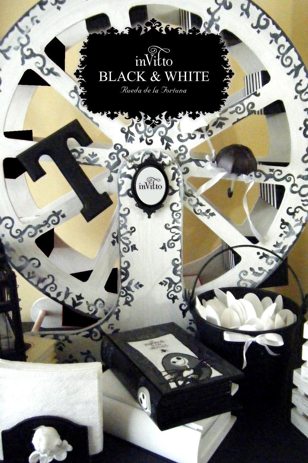 BLACK & WHITE (RUEDA DE LA FORTUNA y ACCESORIOS) | MESA DE DULCES ...