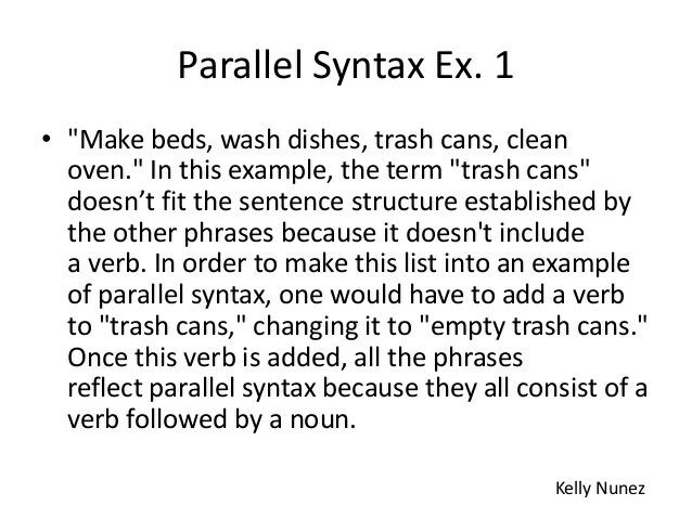 Parallel Syntax Example | Literary Devices | Pinterest