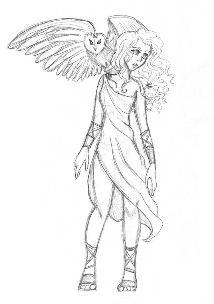 Athena Cartoon Drawing Google Search Percy Jackson Fandom