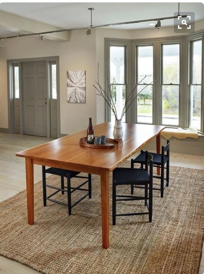 Acadia Live Edge Dining Table In Solid Cherry Combines Minimalist Shaker Styling With Anese