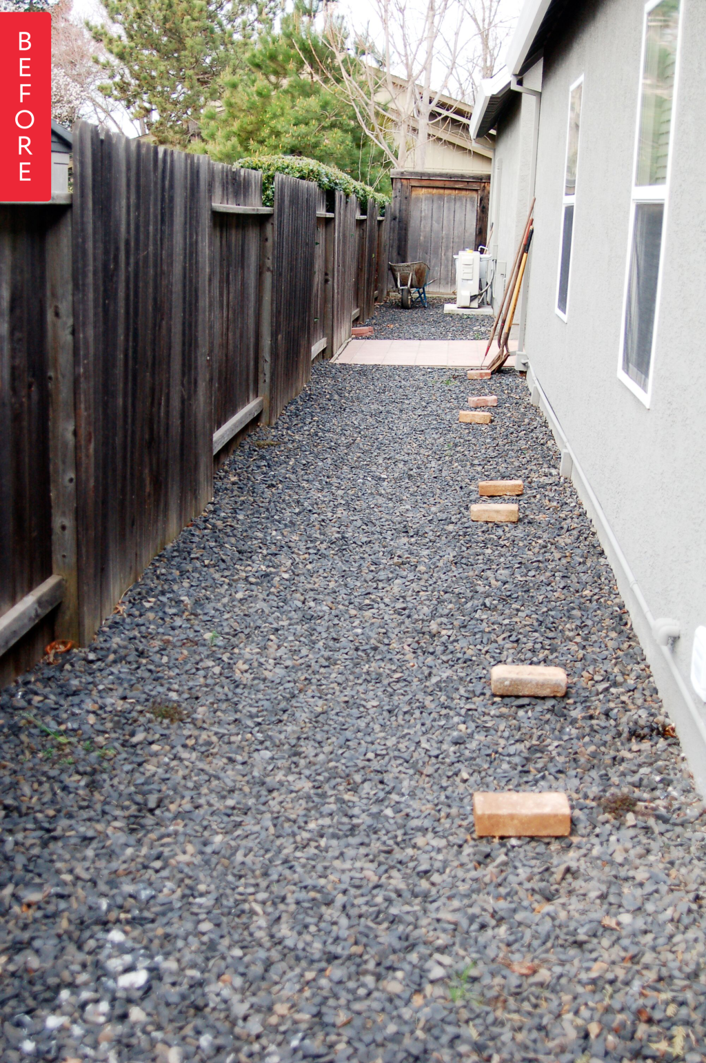 Before & After: A Side Yard Goes from Barren to Bountiful If you live in a typical suburban house, chances are good you have a side yard — a barren little strip of land between the side of the house and the fence covered in grass or rocks and probably not much else & After: A Side Yard Goes from Barren to Bountiful If you live in a typical suburban house, chances are good you have a side yard — a barren little strip of land between the side of the house and the fence covered in grass or rocks and probably not much elseIf you live in a typical suburban house, chances are good you have a side yard — a barren little stri...