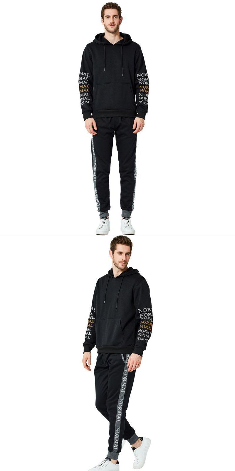 2PCS Men Hoodie Suit Autumn Winter Hoodie Pants Set Cozy Tracksuit Sportswear UK