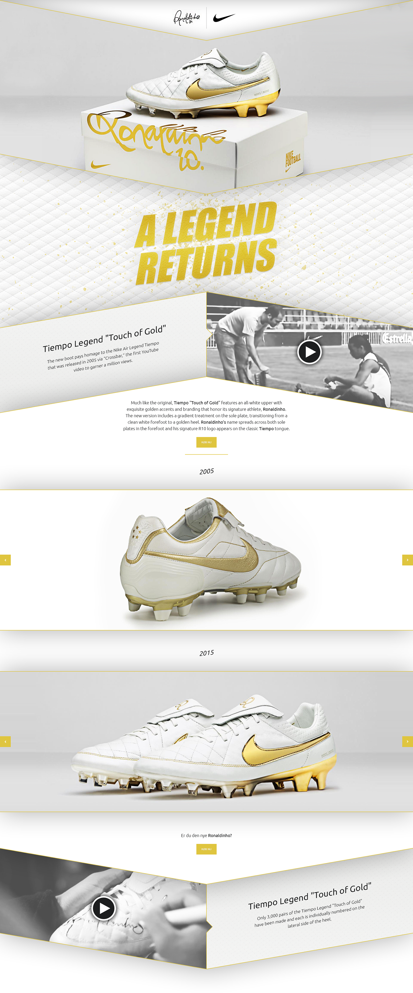 buy online c2a24 35ded A campaign website for Nike Tiempo Legend