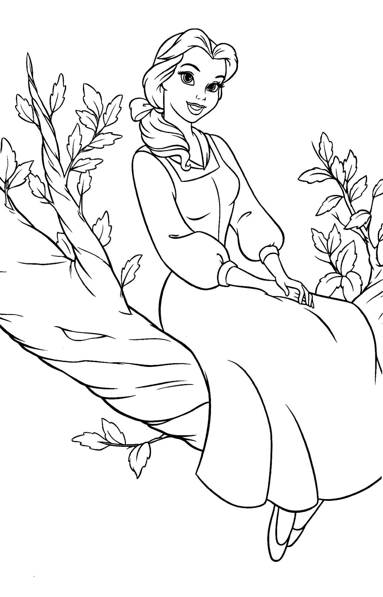 coloriage la belle et la bête  Disney coloring pages, Belle