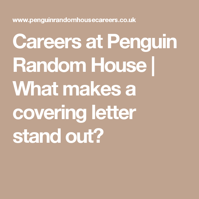 Cover Letters That Stand Out Delectable Careers At Penguin Random House  What Makes A Covering Letter Stand .