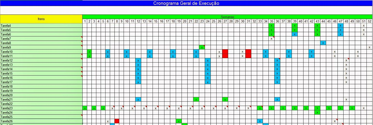 Excel Facil Ideas And Solutions Excel Cronograma Geral De Execu O