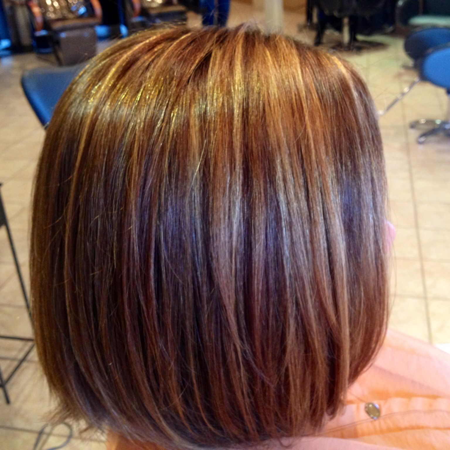 Natural red and blonde highlights | Beauty | Pinterest
