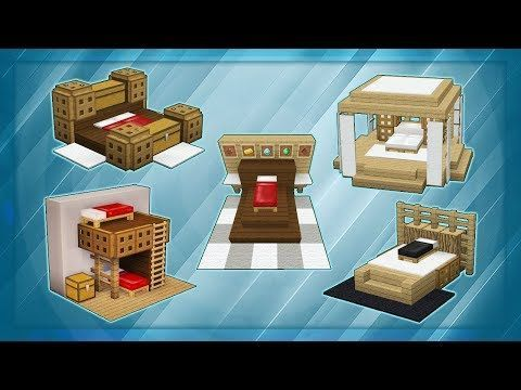 20 Minecraft Bed Designs! #minecraftbuildingideas 20 Minecraft Bed Designs! - YouTube #minecrafthouses