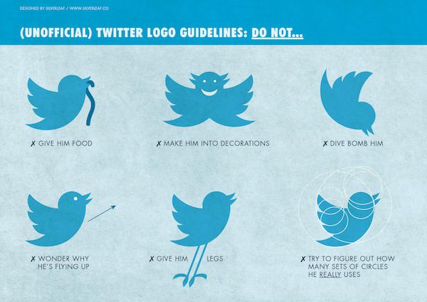 Atención: Lo que NO le puedes hacer al pajarito de Twitter (su logo). #redessociales #RVBS