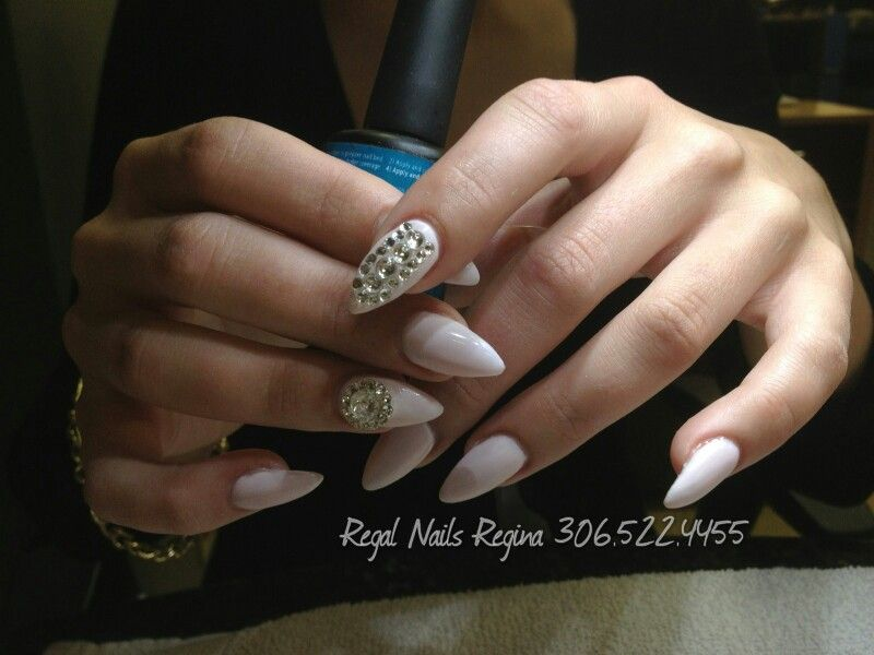 Full Color Solar Stiletto Nails with 3D bling!!! is the new nails ...