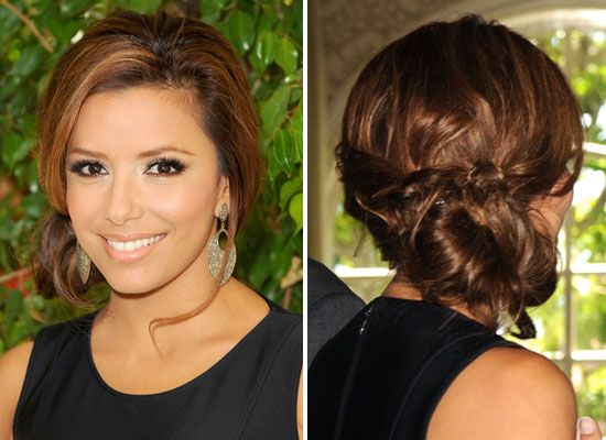 Side Bun Hairstyles Amazing Summer Hair Eva Longoria Parker  Low Side Ponytails Side