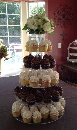 Wedding Cupcake Tower by Windy City Cakery.   Wedding Cake Ideas ...