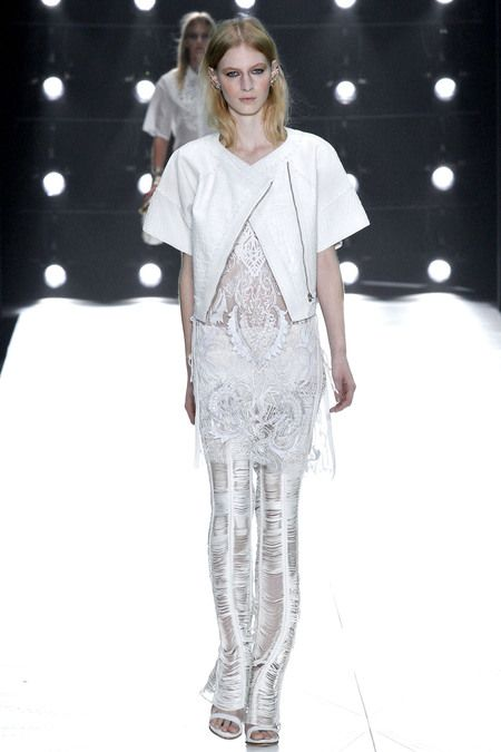 Roberto Cavalli. #S/S13 Delicate head to toe white looks have featured in so many shows this season.