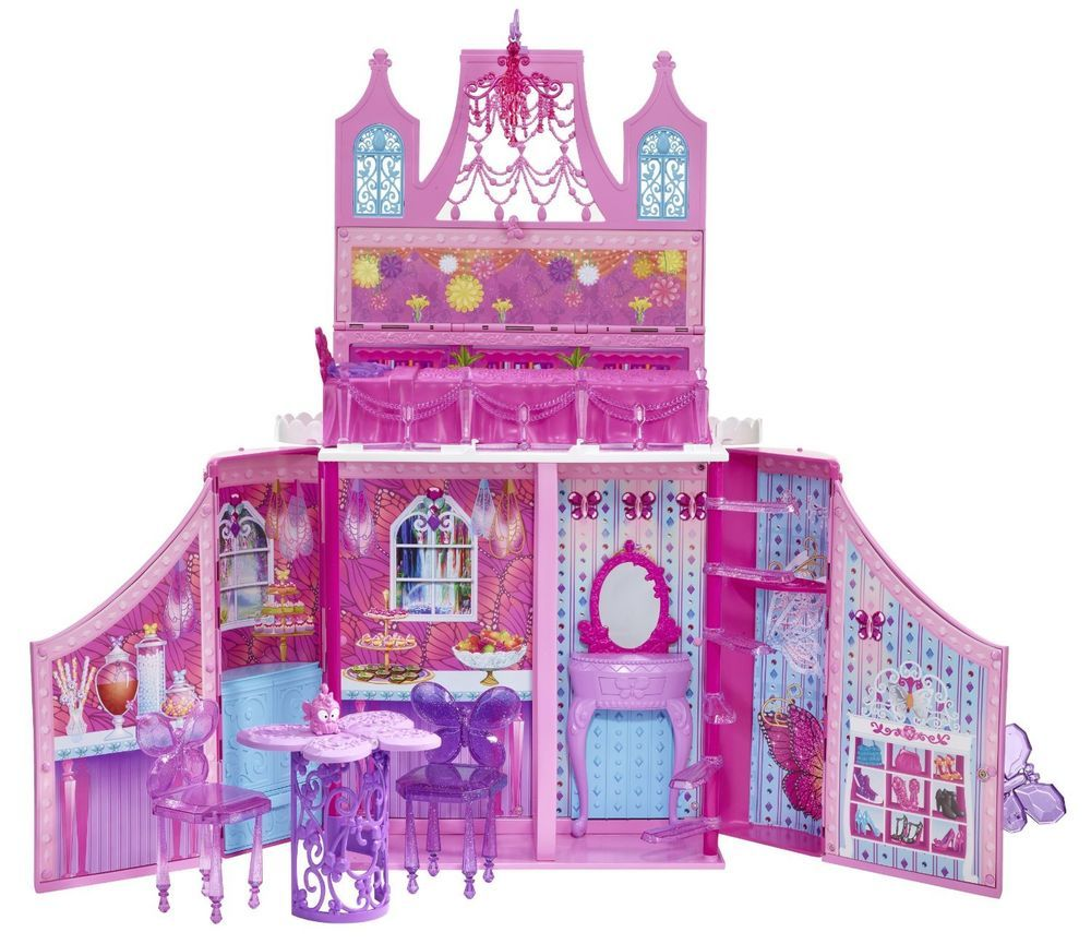 10 awesome barbie doll house models - Mattel Barbie Doll Dream House Pink Mariposa Fairy Princess Travel Playset New