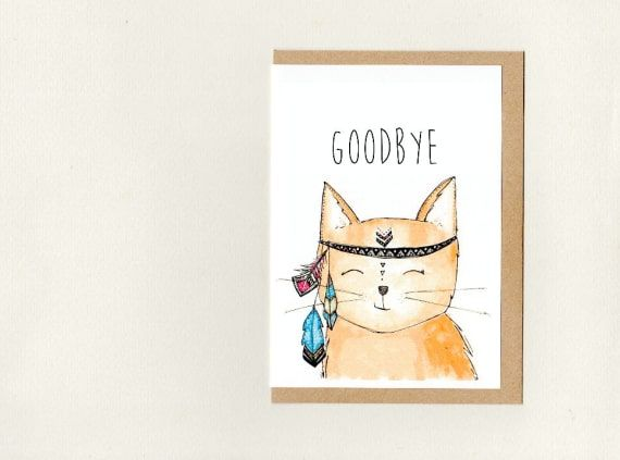 goodbye  greeting card  custom  good bye farewell bon