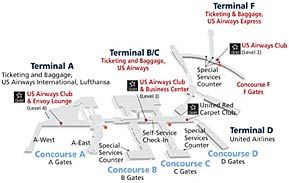 Philadelphia PA Philadelphia International Airport Things I - Phl terminal map