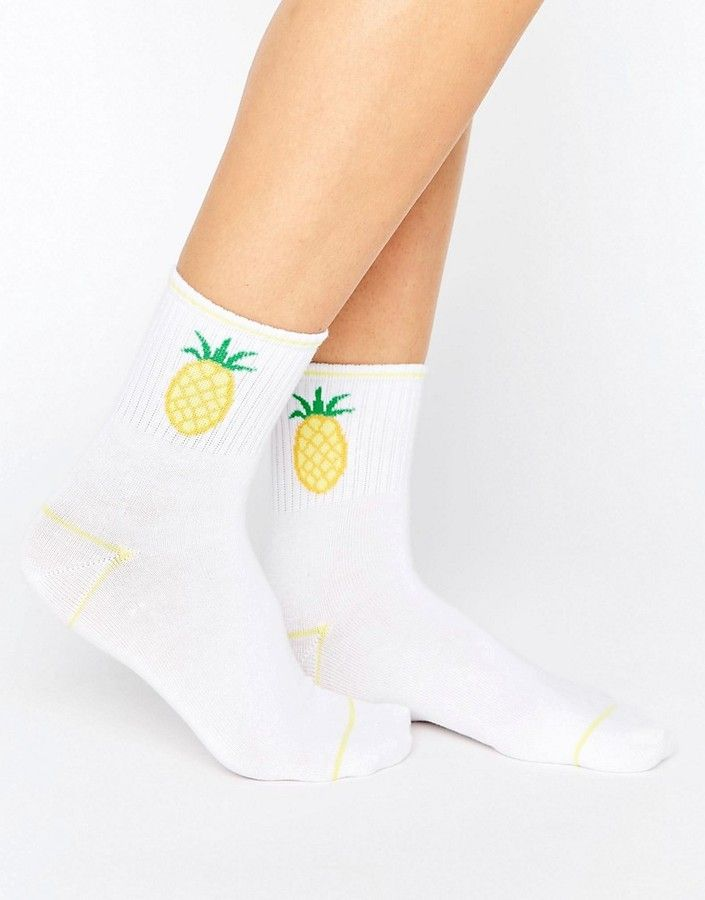 ee7d8681520 Cute Monki Pineapple Ankle Socks - keep feet warm - foot accessories Ankle High  Socks