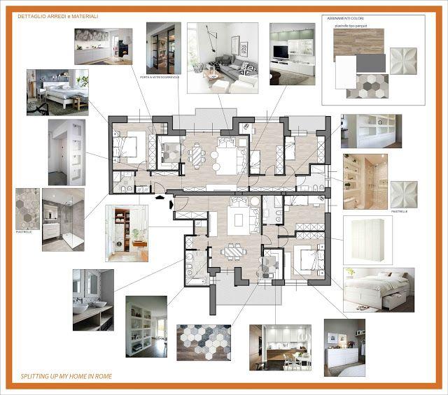 Un solo software cad 3d per tutte le tue esigenze: Arredamento E Dintorni Progetto Di Suddivisione Due Appartamenti Layout Di Progettazione Architettura D Interni Portafogli Di Design