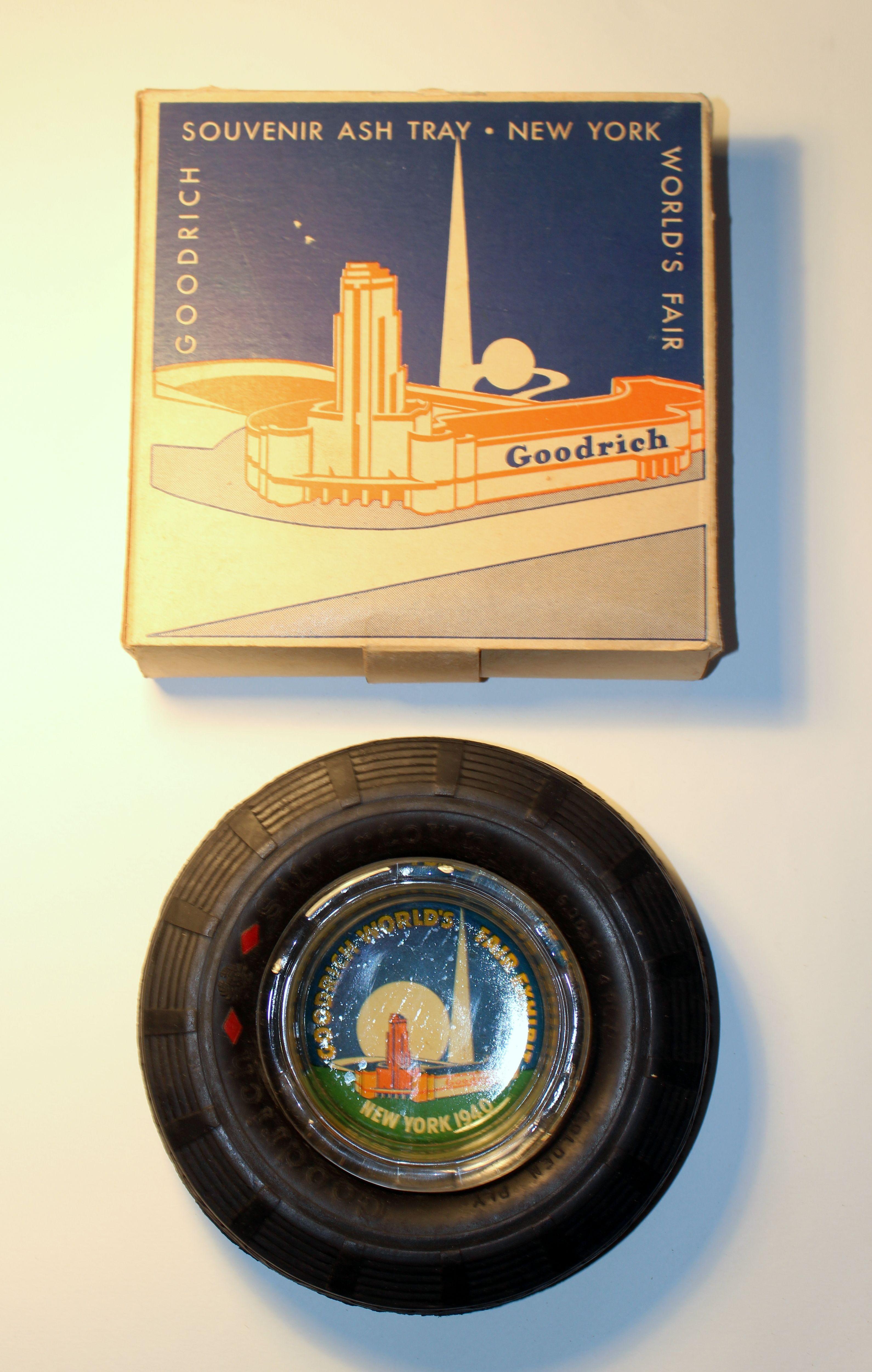 """1939 New York World's Fair "" Goodrich Tire Ashtray And"