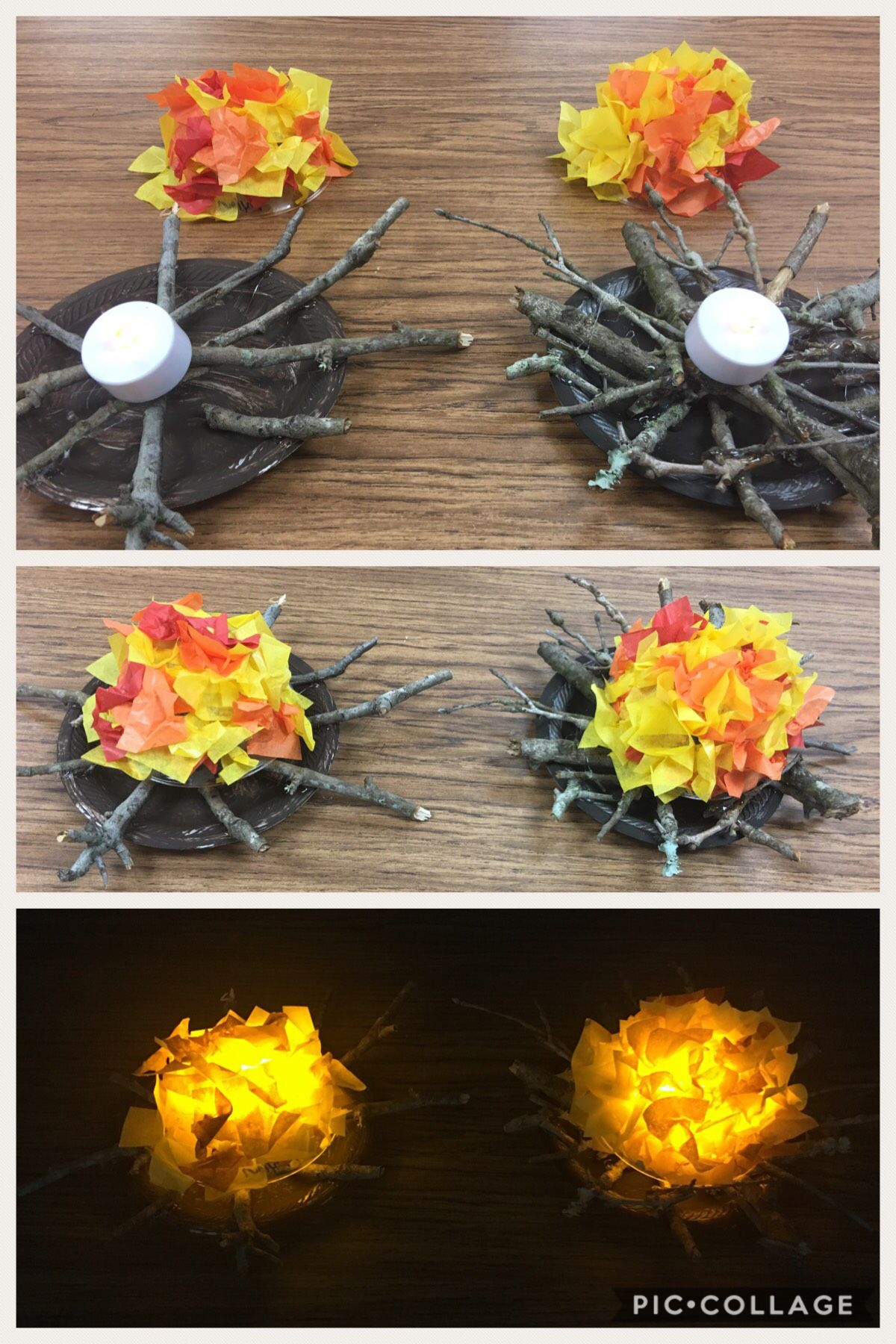 Tissue Paper Campfire