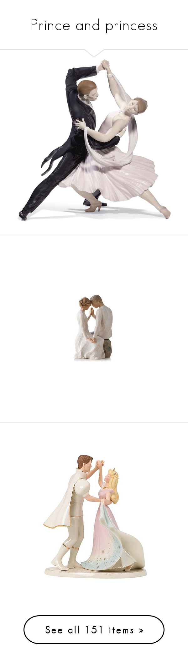 """""""Prince and princess"""" by smile-2528 ❤ liked on Polyvore featuring home, home decor, dance, decor, fillers, couple, dancers, no color, lladro figurines and porcelain figurine"""
