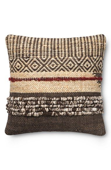 Loloi Geometric Woven Pillow Rustic Pillows Throw