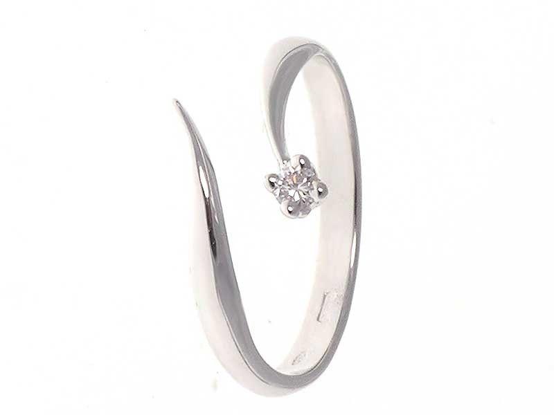 Anello Con Diamante Solitario 0 06ct Bague Diamant Moderne Bague Diamant Bague