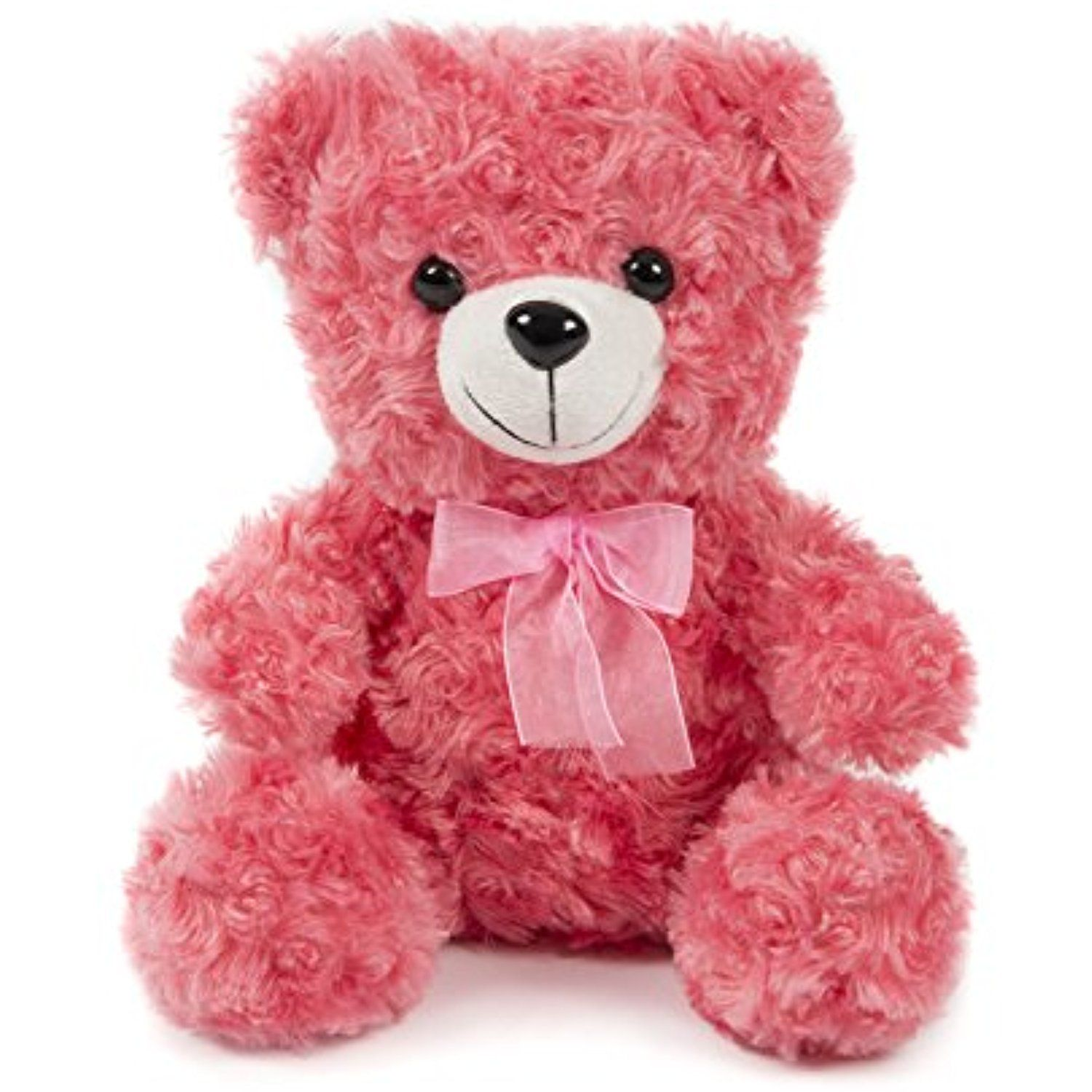 Soft Stuffed Little Teddy Bear Plush Toy 10 Inches Pink By