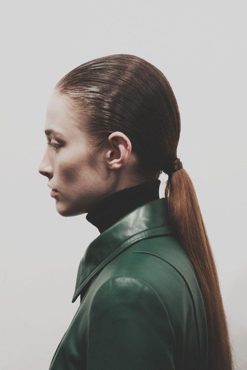 H by Hakaan Yildirim AW15 Womenswear Dazed backstage hair