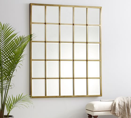 Eagan Multipanel Large Mirror Brass Right Now Marked Down To