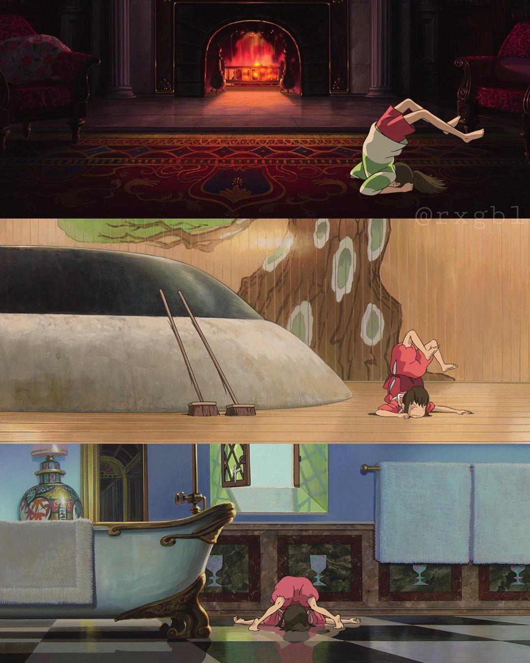 ゑ On Instagram 千尋の転ぶ場面集 ジブリ 千と千尋の神隠し Spiritedaway Studio Ghibli Ghibli Studio Ghibli Movies