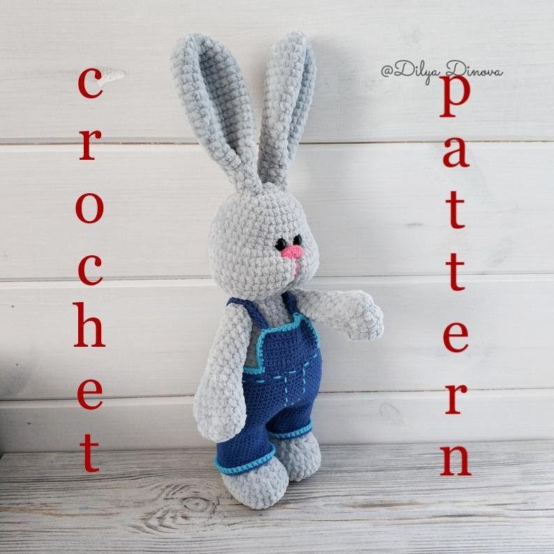 Crochet pattern bunny potesha plush amigurumi bunny toy