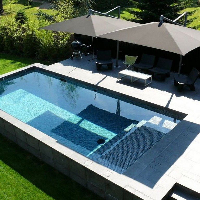 35 Good Small Swimming Pool Ideas For Your Backyard Swimmingpools Swimmingpooldesign Backyard Cool Swimming Pools Swimming Pools Pool Water Features